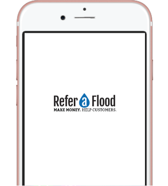 referaflood mockup in iphone